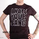 Sexypunk: I hate your band Girlie-Shirt, schwarz